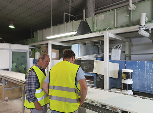 Factory Visit of Exergy to Yesyforma Factory facilities