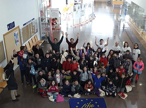 Workshop with primary school students of Rio Arlanzón School