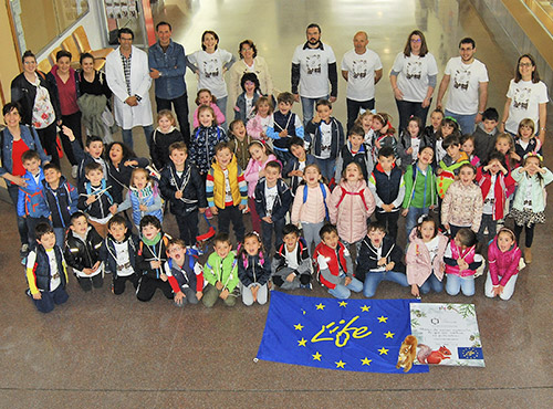 Workshop with the children of 3rd year early childhood education of the School Rio Arlanzón in Burgos